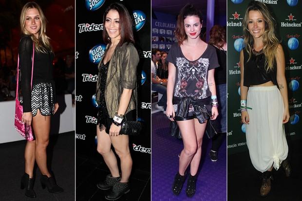 Fiorella Mattheis, Carol Castro, Sthefany Brito e Juliana Didone (Foto: EGO / AgNews)