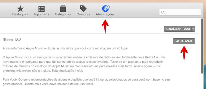 Atualizando o iTunes (Foto: Reprodução/Helito Bijora)