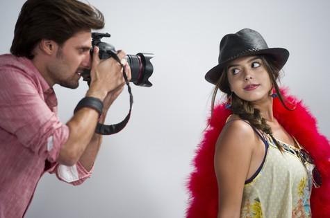 Hugo Bonemer e Giovanna Lancellotti (Foto: Cynthia Salles/TV Globo)