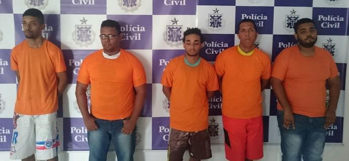 presos; polícia civil; fraude sócio esquadrão; bahia (Foto: Divulgação/Polícia Civil)