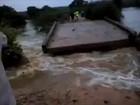 Chuva arrasta pontes em Julio Borges (PI) e deixa comunidades ilhadas