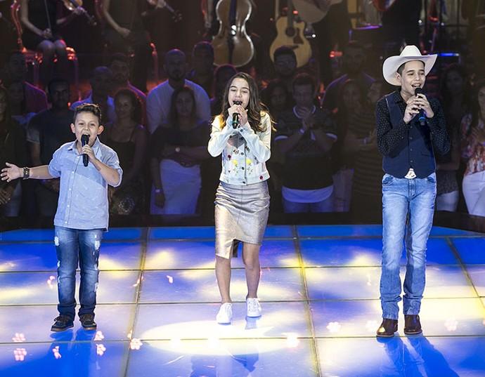 Sertanejo de raiz emociona nas vozes de Lucas Hernandes, Lucas Viola e Luna Pietá (Foto: Isabella Pinheiro/Gshow)