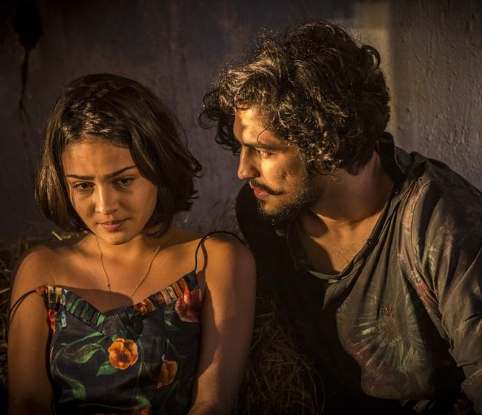 Olívia vai descobrir que Miguel é filho de Santo (Foto: Inácio Moraes/ Gshow)