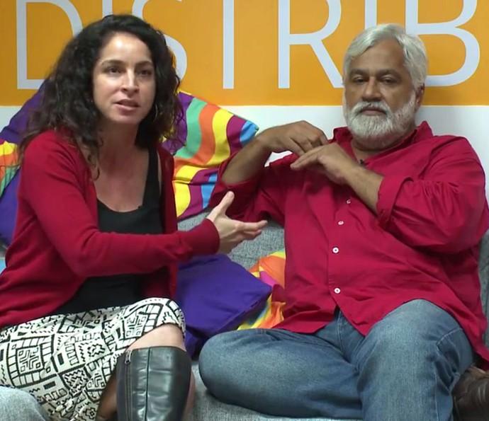 Rosane Svartman e Paulo Halm conversam com o Gshow! (Foto: Gshow)