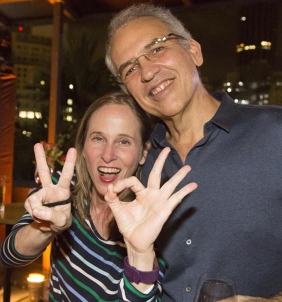 Deborah Colker e o diretor Belisario Franca na comemoração dos 20 anos da Giros (Foto: Mathilde Missioneiro)