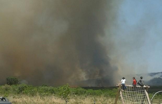 Incêndio no Parque da Chapada dos Veadeiros chega à área rural de Alto Paraíso de Goiás (Foto: Divulgação/ Prefeitura de Alto Paraíso de Goiás)