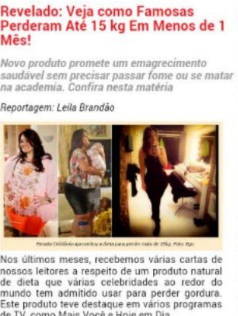 Propaganda de Renata Celidônio (Foto: Reprodução)