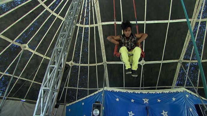 O sonho de Jonas ter um circo vira documentário de Paula Gomes (Foto: TV Bahia)