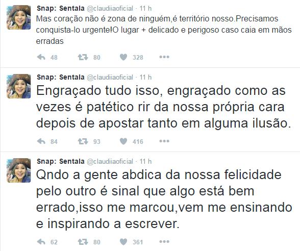 Posts de Cacau levaram o ex-BBB a mandar indiretas no Twitter (Foto: Reprodução / Twitter)
