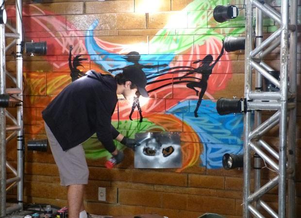 Grafite da Marcela2 (Foto: TV Globo/Malhação)