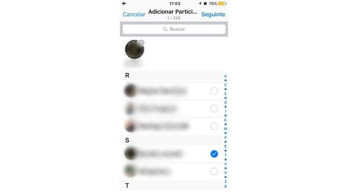 Criar novo grupo para adicionar usuário suspeito de ter te bloqueado no WhatsApp