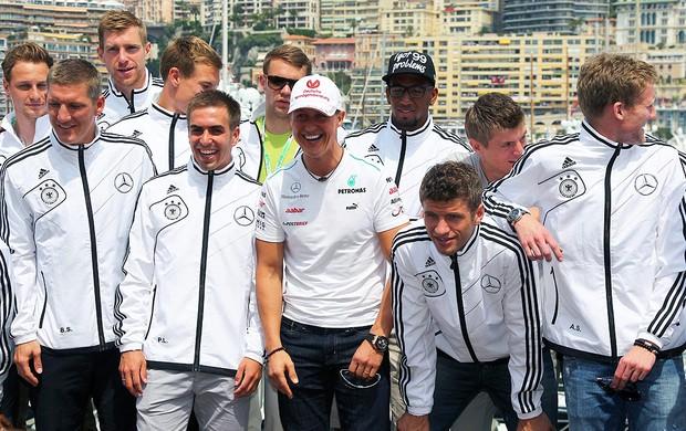 Seleção da Alemanha no GP de Mônaco (Foto: Agência EFE)