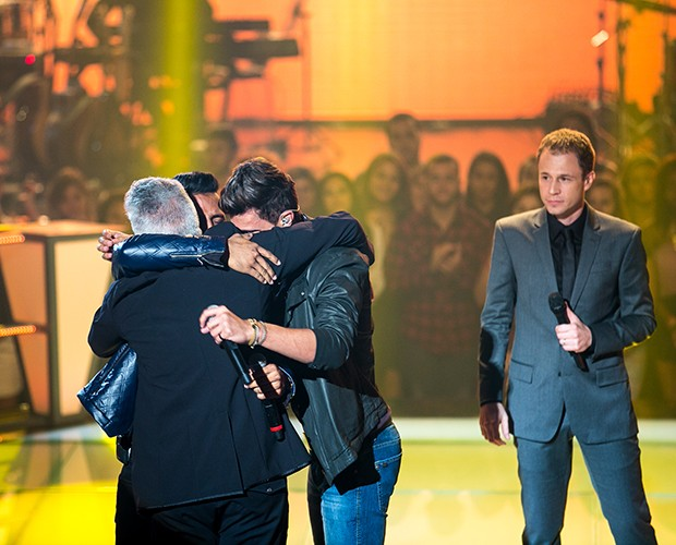 A emoção rolou solta também na Batalha de Danilo Reis e Rafael com Vitor e Vanuti (Foto: Isabella Pinheiro/Gshow)