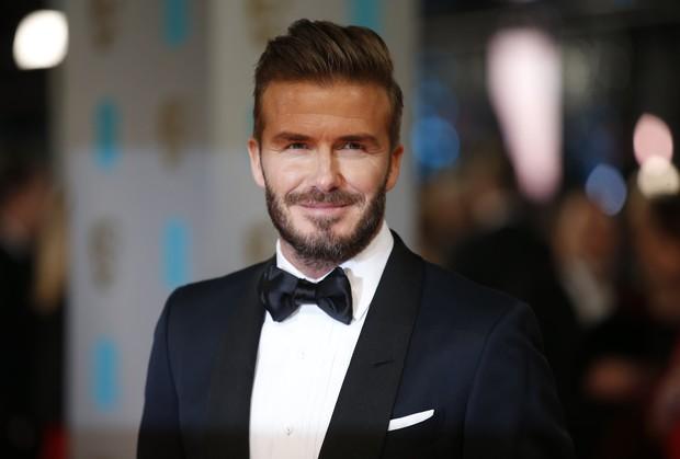 David Beckham no BAFTA (Foto: AFP)