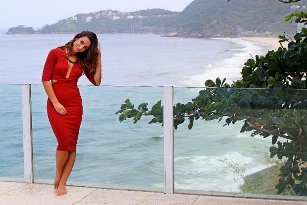 Camila Lucciola em ensaio de Dia das Mães a convite de uma grife (Foto: Divulgação)