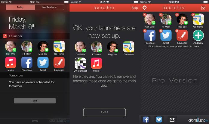 Deixe a central de notificações do iOS como você quer com o Launcher (Foto: Divulgação/AppStore)