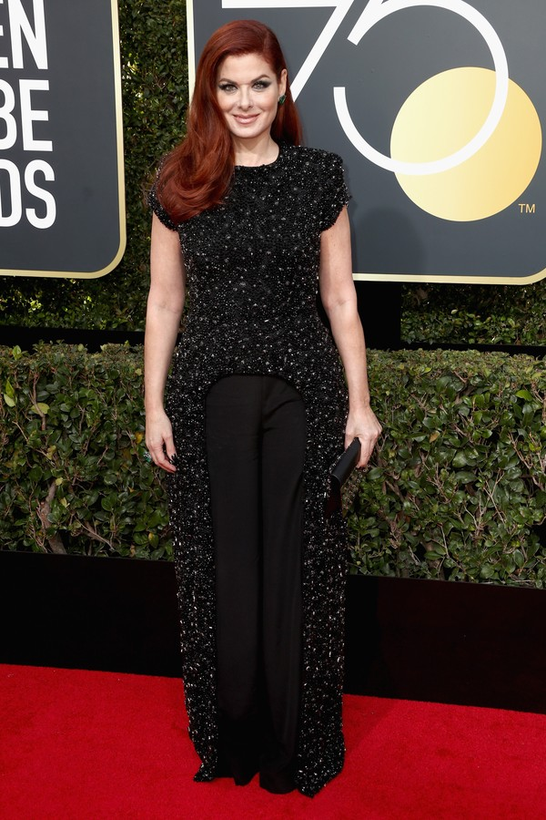 BEVERLY HILLS, CA - JANUARY 07:  Debra Messing attends The 75th Annual Golden Globe Awards at The Beverly Hilton Hotel on January 7, 2018 in Beverly Hills, California.  (Photo by Frederick M. Brown/Getty Images) (Foto: Getty Images)