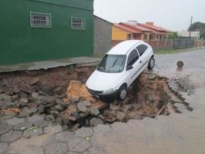 chuva; araranguá (Foto: Divulgação/Subcom de Araranguá)