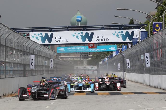 Largada do e.Prix de Putrajaya de Fórmula E (Foto: Divulgação)
