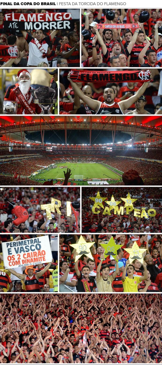 Mosaico - Torcida Flamengo, Final da Copa do Brasil (Foto: Editoria de Arte)