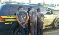 Trio é preso suspeito de furtar fibra ótica (Divulgação/PRF)