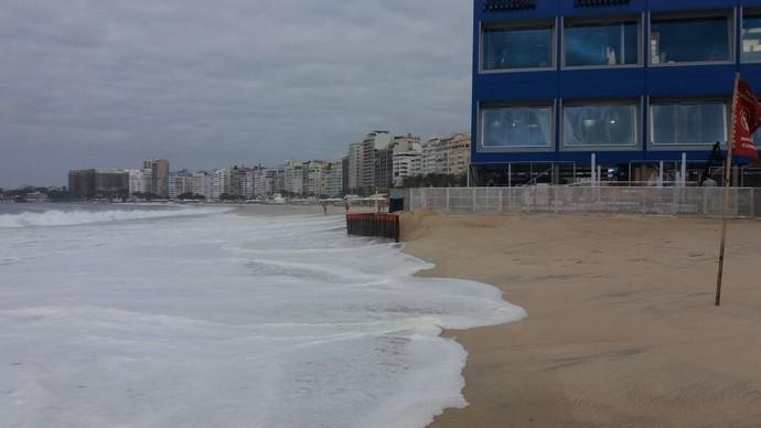 Ressaca Praia de Copacabana estúdio olímpico (Foto: Eduardo Orgler)