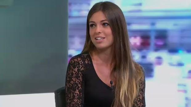 Patrícia Dominguez, jornalista espanhol do jornal AS (Foto: Reprodução SporTV)