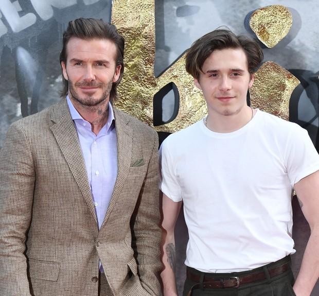 David Beckham e Brooklyn Beckham (Foto: AKM-GSI)