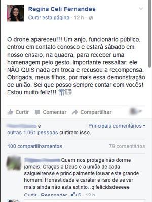 Presidente do Salgueiro confirmou a informação em sua página no Facebook (Foto: Reprodução / Facebook)