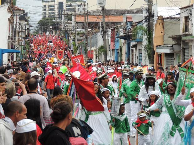 Cortejo fechou ruas do centro da cidade. (Foto: Jenifer Carpani/G1)