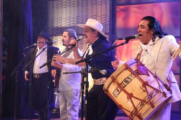 Os Fagundes no Galpão Crioulo do Enart (Foto: Verônica De Giacomo/RBS TV)