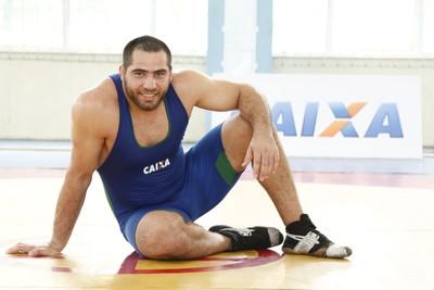 Eduard Soghomonyan faturou o bronze na categoria até 130kg do estilo greco-romano (Foto: Divulgação/CBW)