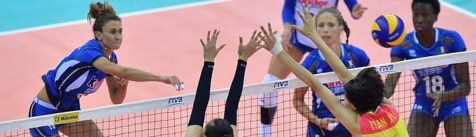 Itália x China semifinal Grand Prix vôlei (Foto: FIVB)