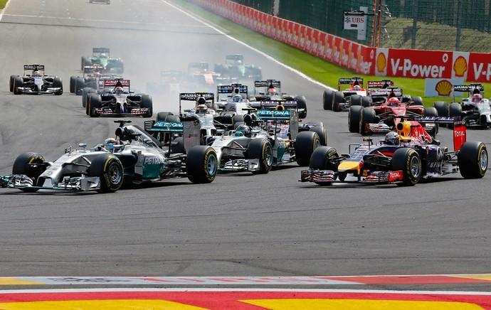 Largada F1 GP Bélgica  (Foto: Reuters)