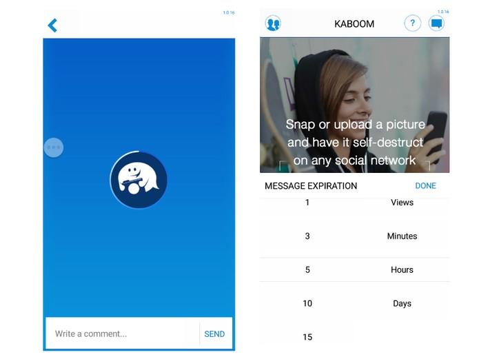 App para Android e iOS gera mensagem com tempo para se autodestruir (Foto: Reprodução/Barbara Mannara) (Foto: App para Android e iOS gera mensagem com tempo para se autodestruir (Foto: Reprodução/Barbara Mannara))