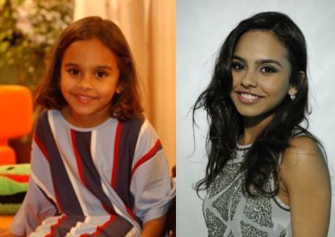 Ana Beatriz na 'Malhação' há dez anos e atualmente (Foto: TV Globo)
