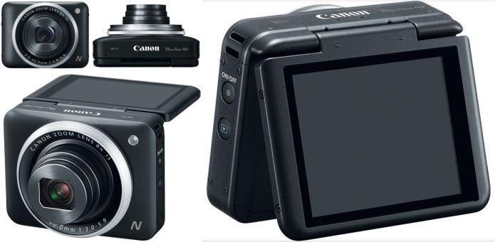 A Canon PowerShot N2 em vários ângulos (Foto: Divulgação)
