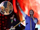 Filhos de Gwyneth Paltrow e Chris Martin cantam em show do Coldplay