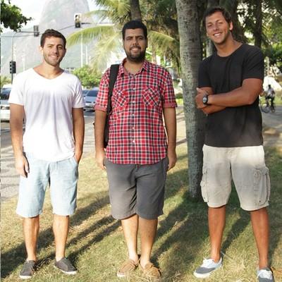 Da esquerda para a direita: Ricardo Ruliere, Vitor Damasceno e Guilherme Anchieta (Foto: Arquivo pessoal)