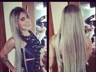 Ex-BBB Vanessa alonga os fios em salão em São Paulo