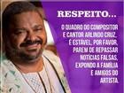 Filhos de Arlindo Cruz fazem post pedindo respeito ao pai