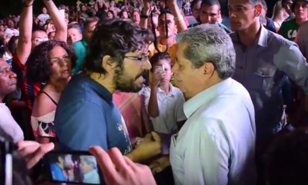 Ilmar Renato Fonseca com André Puccinelli, ex-governador de Mato Grosso do Sul (Foto: Reprodução/YouTube)