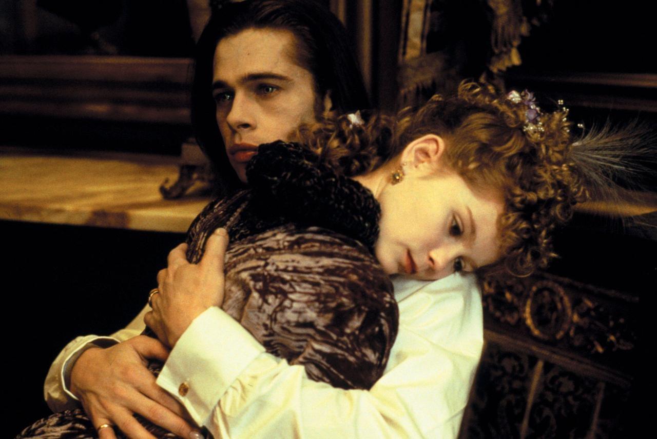 Kirsten Dunst e Brad Pitt em 'Entrevista Com o Vampiro' (1994) (Foto: Reprodução)