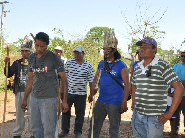 Indígenas ocupam a chácara Boa Esperança desde 9 de outubro. (Foto: Tatiane Queiroz/ G1 MS)