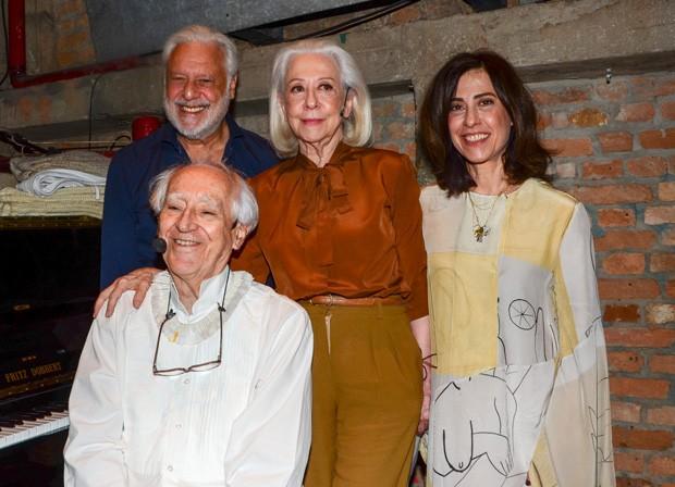 Antônio Fagundes, Fernanda Montenegro, Fernanda Torres e Zé Celso (Foto: Eduardo Martins/AgNews)