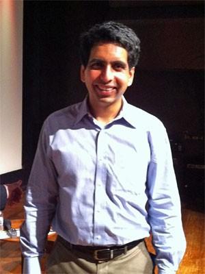 Salman Khan, fundador da Khan Academy (Foto: Ana Carolina Moreno/G1)