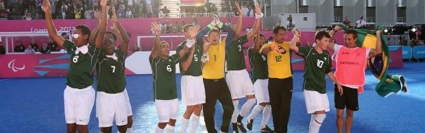 Amarradão paralimpíadas futebol de 5 (Foto: Getty Images)