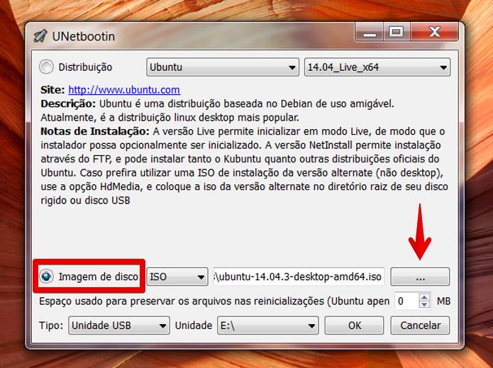 Se preferir, você pode baixar a imagem ISO do sistema escolhido por sua conta (Foto: Reprodução/Filipe Garrett)
