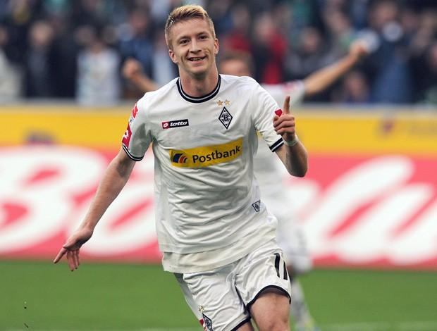 Marco Reus comemora gol do Borussia Mönchengladbach sobre o  Werder Bremen (Foto: Reuters)