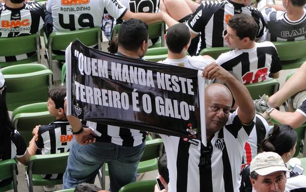 faixa atlético-mg   (Foto: Tarcísio Badaró/Globoesporte.com)